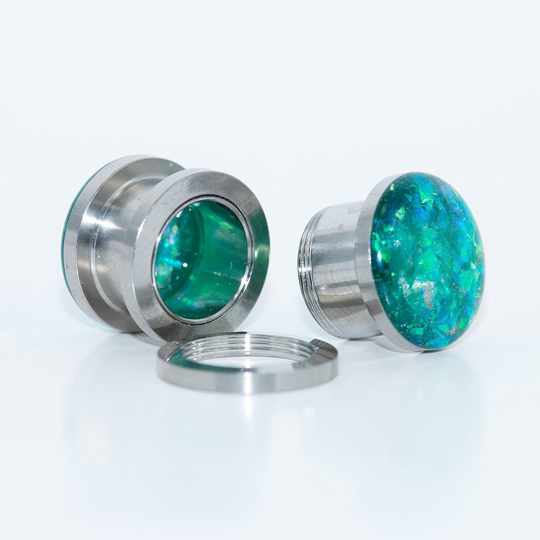 9//16 1//2 6g 2g 8g 5//8 inch body jewelry Handmade Gold Sparkle Plugs 00g 0g 4g