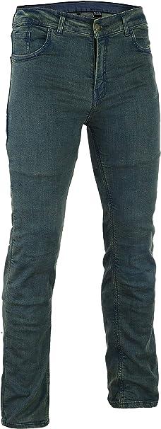 Bikers Gear Australia Limited Damen Stretch Gefüttert Mit Kevlar Motorrad Jeans Schutzhülle Mit Abnehmbarem Armour Vintage Denim Größe 14 Bekleidung