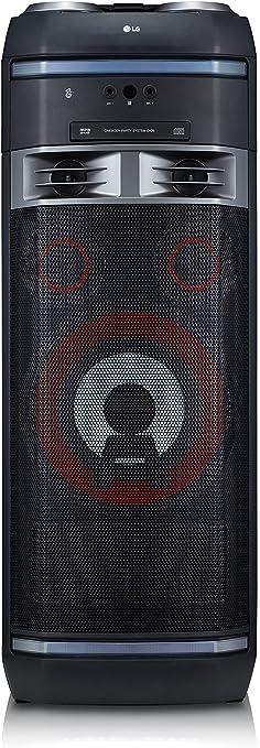 TALLA 1000 W. LG XBOOM OK75 - Altavoz Alta Potencia (1000W, Bluetooth, USB, Funciones DJ, Karaoke, iluminación), Negro