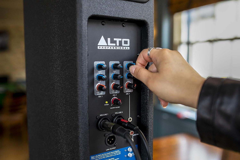 Sistema PA compacto biamplificado de 200 W con Bluetooth mezclador de 3 canales ecualizador integrado ALTO Professional Trouper respuesta de gama completa y conectividad centrada en el directo