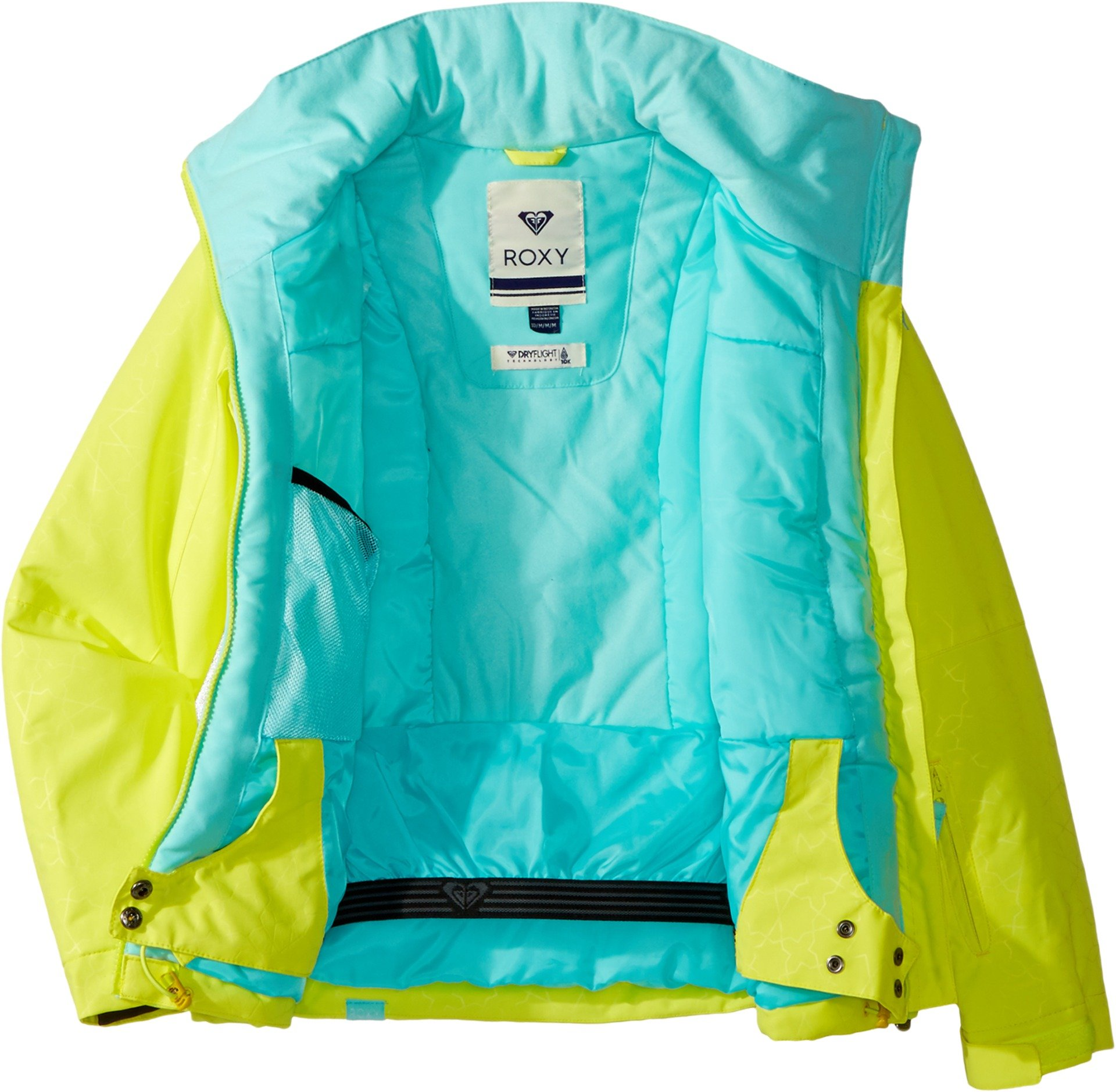 Roxy Big Girls' American Pie Solid Snow Jacket, Lemon Tonic_Gana Emboss, 14/XL by Roxy (Image #1)