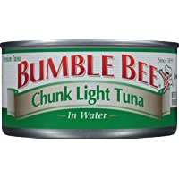 BUMBLE BEE Chunk Light Tuna In Water, Wild Caught, High Protein Food, Gluten Free, Keto, Canned Food, 12 Ounce Cans…