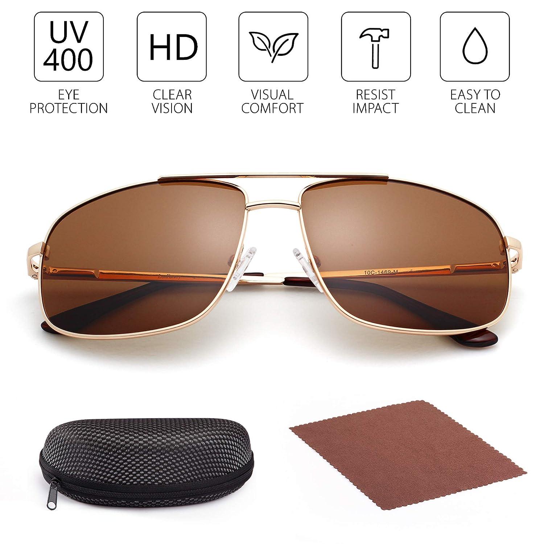 Amazon.com: LotFancy - Gafas de sol polarizadas para hombre ...