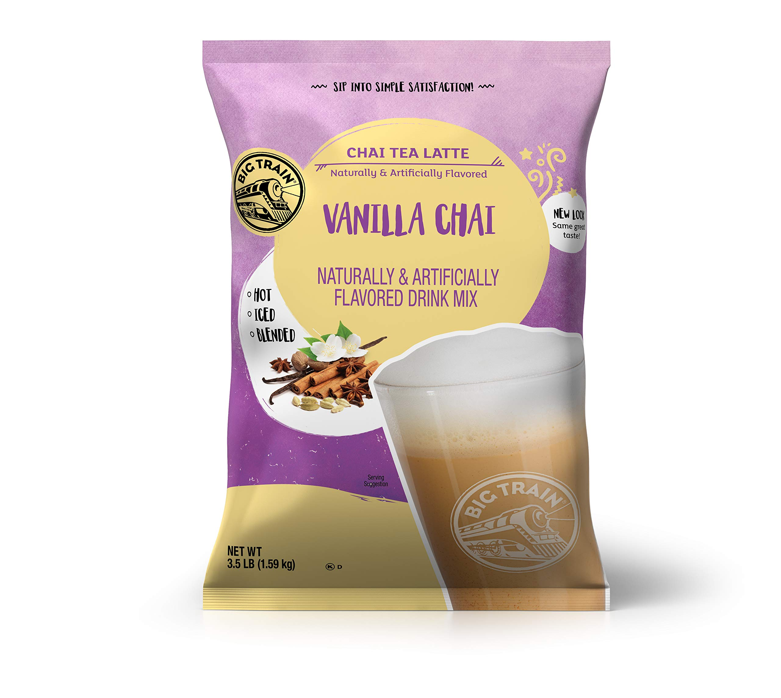 Big Train Vanilla Chai Tea Latte Instant Powdered Mix, 3.5 Pound Bag