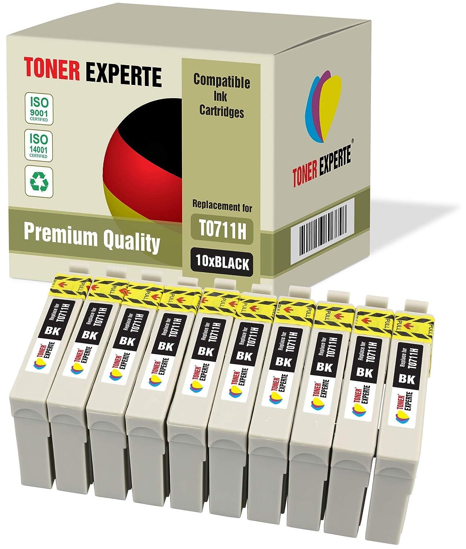 Pack de 10 XL TONER EXPERTE® Compatibles T0711H Cartuchos de Tinta ...