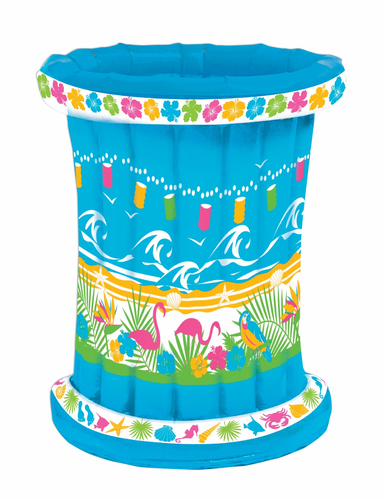 Inflatable Tropical Themed Drink Cooler for Outdoor Party - BBQ Picnic Pool Party Buffet Luau - Party Accessory - 22'' W. x 26'' H. by Express Novelties Online