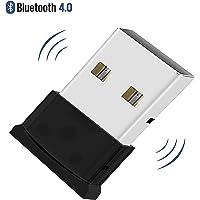 QueenDer Bluetooth Adapter, USB 4.0 Adapter EDR Chip Nano Dongle Empfänger Bluetooth Sender(Plug&Play)für Windows 10/8.1/8/7/Vista/XP,PC,Kopfhörer,Sprecher,Bluetooth Lautsprecher,Tastatur,Maus