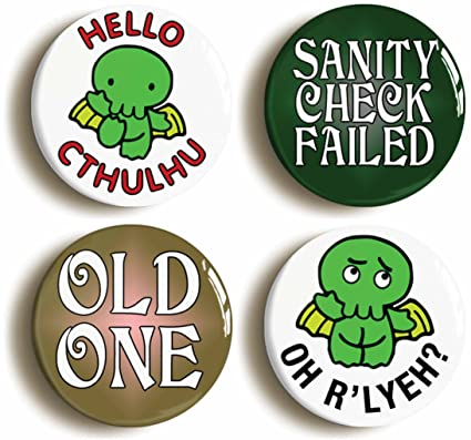 Amazon com: HP Lovecraft Cthulhu RPG Funny Button Pin Set