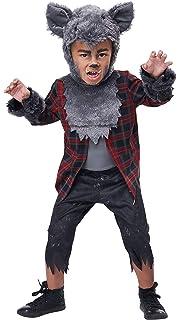 Cute Wolf Costumes Kids Carnival Party Fierce Werewolf Disguise Fancy Dress
