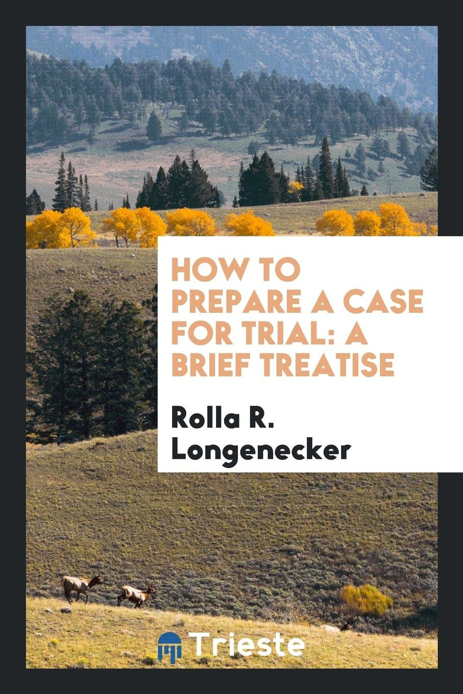 How to Prepare a Case for Trial: A Brief Treatise pdf
