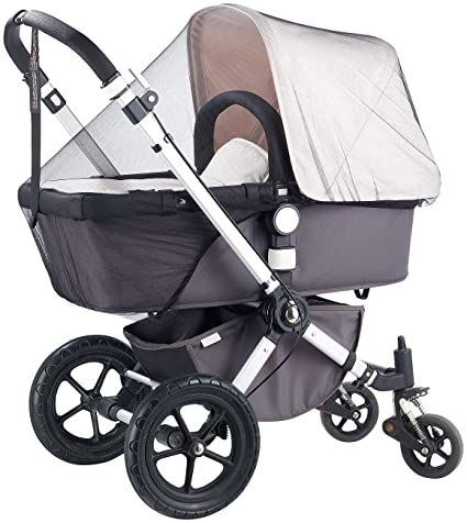 Infactory – mosquitera Universal para carrito y cuna, color blanco
