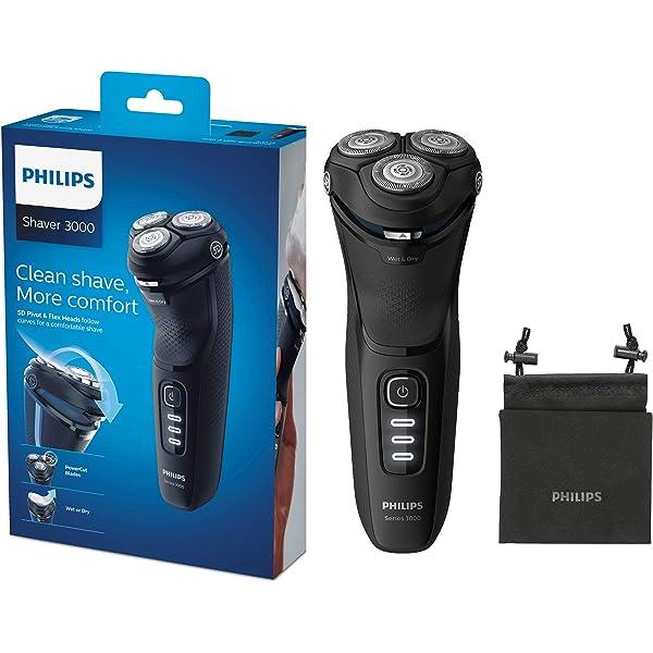 Philips Serie 3000 S3233/52 - Afeitadora eléctrica, cabezales ...