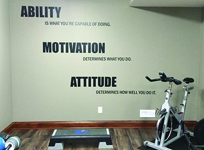 Your only limit is you gym quote wall sticker fitness workout