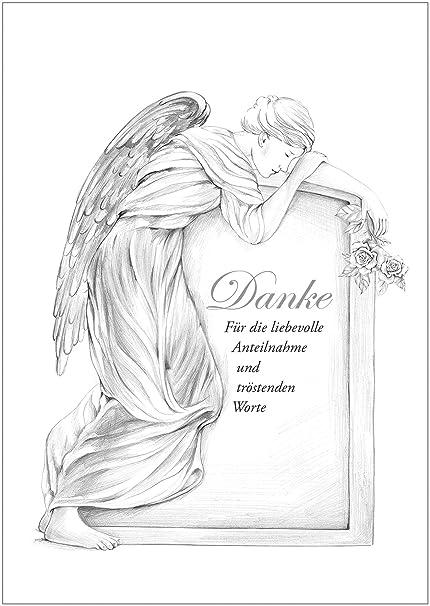 """disponible en el 1er 4 8 unidades: luto dankeskarte """"Danke para la"""