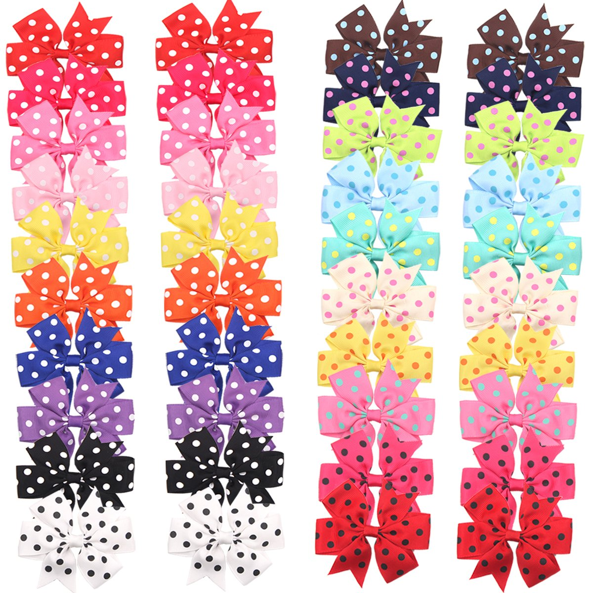 a11bf0be7 About the product Cellot boutique Hair bow size:3 inch ;Made from 1 inch  grosgrain Polka Dot ribbon; Attached with alligator clips. Set of 20  colors; ...