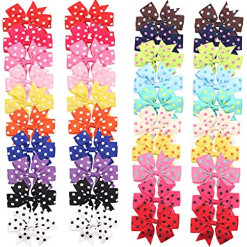 Clothing, Shoes & Accessories Bright 40 Pieces 3 Inch Hair Bows Alligator Hair Clips For Baby Girls Toddlers In Pairs Girls' Accessories