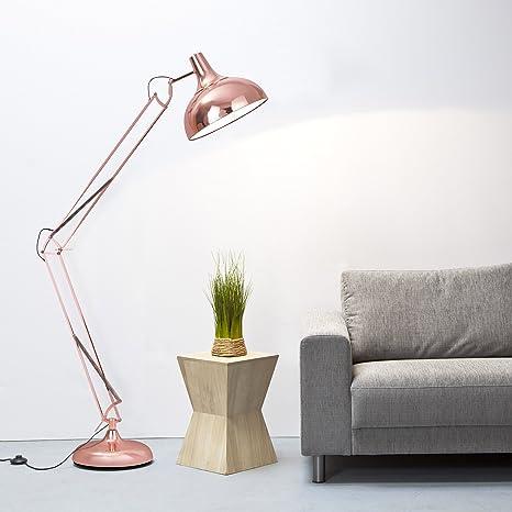 Gran lámpara de pie de cobre 1,8 M de altura x 1 E27-Sockel con interruptor de pie