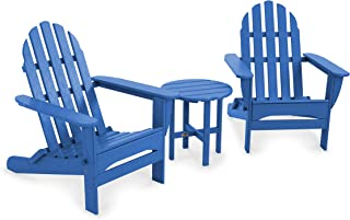 product image for POLYWOOD PWS214-1-PB Classic Adirondack Chair Seating Set, Pacific Blue