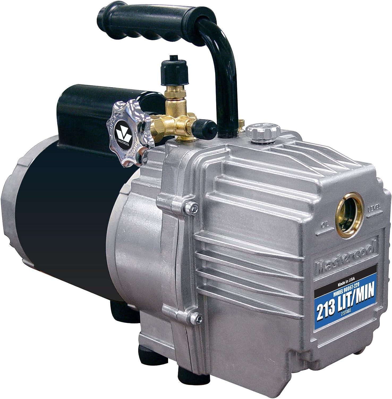 MASTERCOOL (90067 Silver 7.5 CFM 2-Stage Deep Vacuum Pump