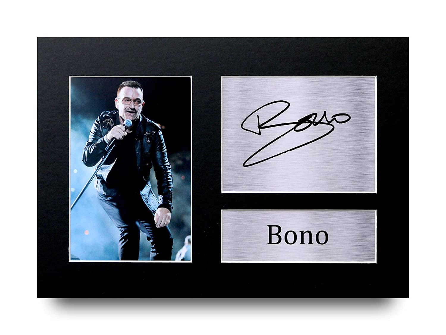 HWC Trading Bono Gift Signed A4 Printed Autograph U2 Gifts Rock Music Print Photo Picture Display