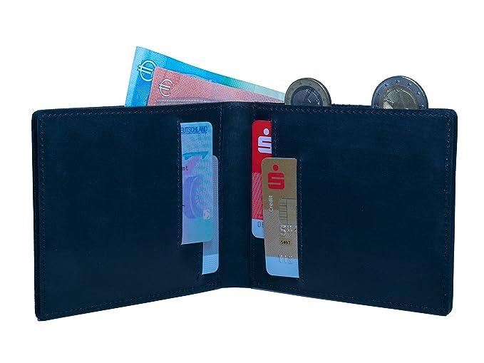 Flache Geldbörse 0 8 Cm Mit Münzfach Und Rfid Schutz