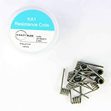 The Crazy Wire Company's Pre-Made Vaping Coils - Standard Coil (Kanthal  Hoffa Coil - 0 45 ohms/m (10 coils))