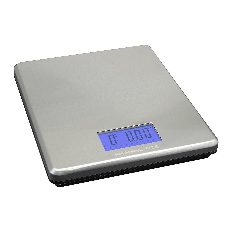 KitchenAid Gourmet Stainless Steel Electronic Scale, 11-Pound