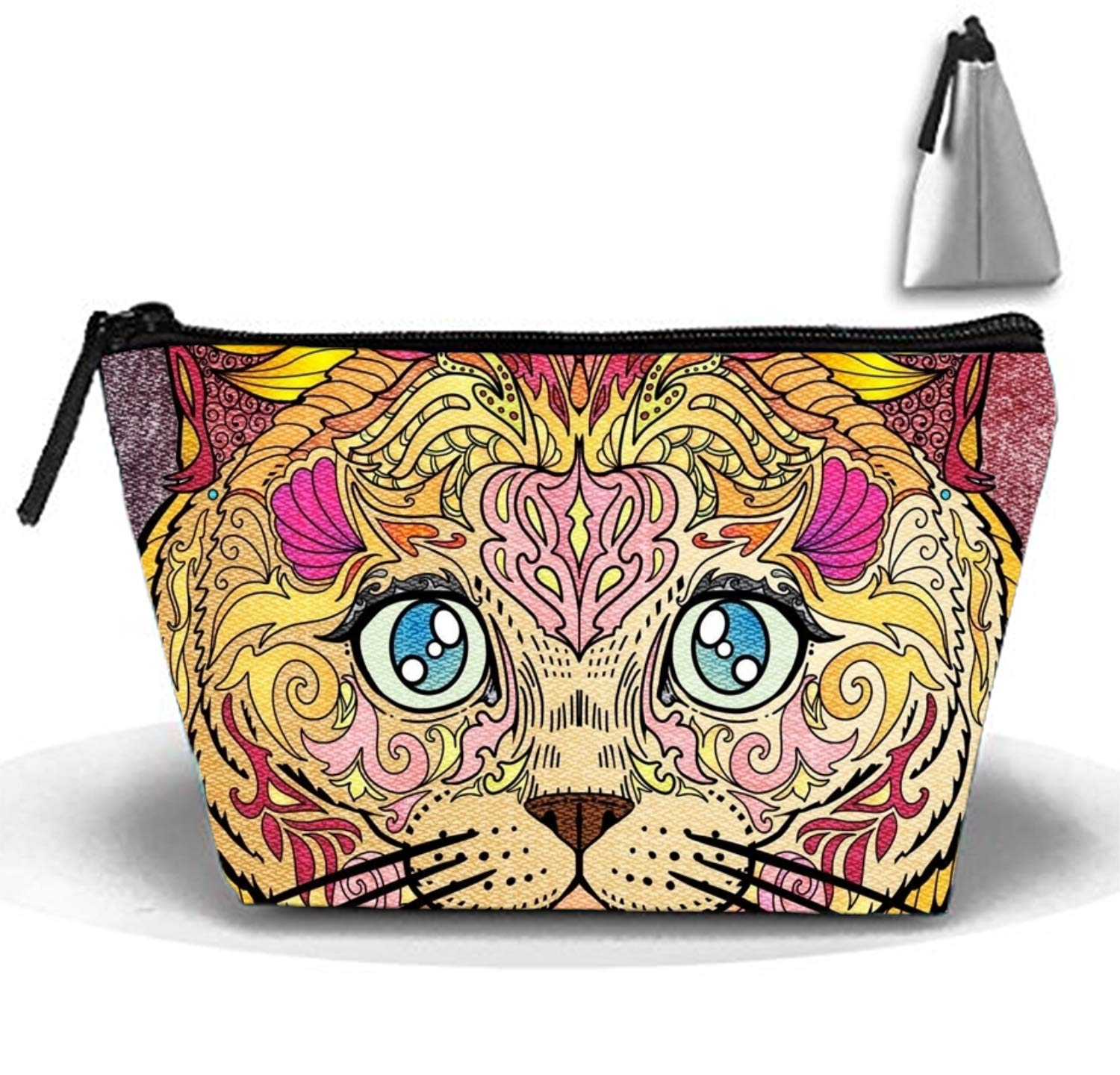 Cute Cat Women's Makeup Organizer Men's Shaving Kit for Travel Accessories, Shampoo, Cosmetic, Personal Items