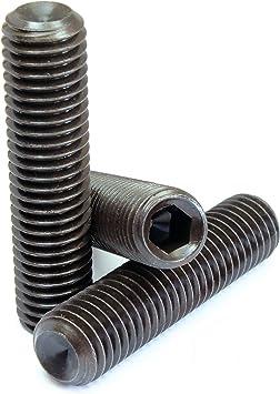 Black Oxide Plain Cup Point M5-0.8mm Thread Socket Set Screw 10mm Long Alloy Steel Unbrako 45H
