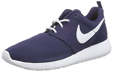743c89551d9a71 ... ebay nike roshe one gs 599728416 color white navy blue size 3cb63 97a23  ...