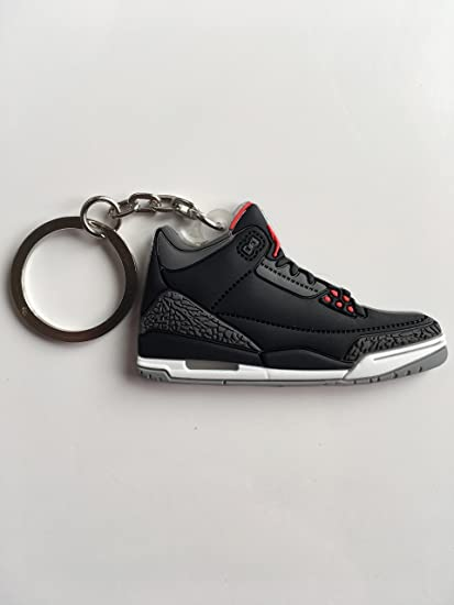9cb00ffd2c4ad0 Amazon.com   Jordan Retro 3 Black Cement Sneaker Keychain Shoes Keyring AJ  23 OG   Sports   Outdoors