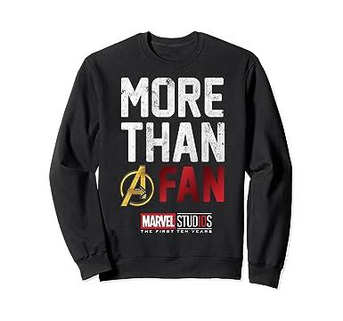 74b3a686acd Unisex Marvel Studios Ten Years More Than A Fan Sweatshirt 2XL Black