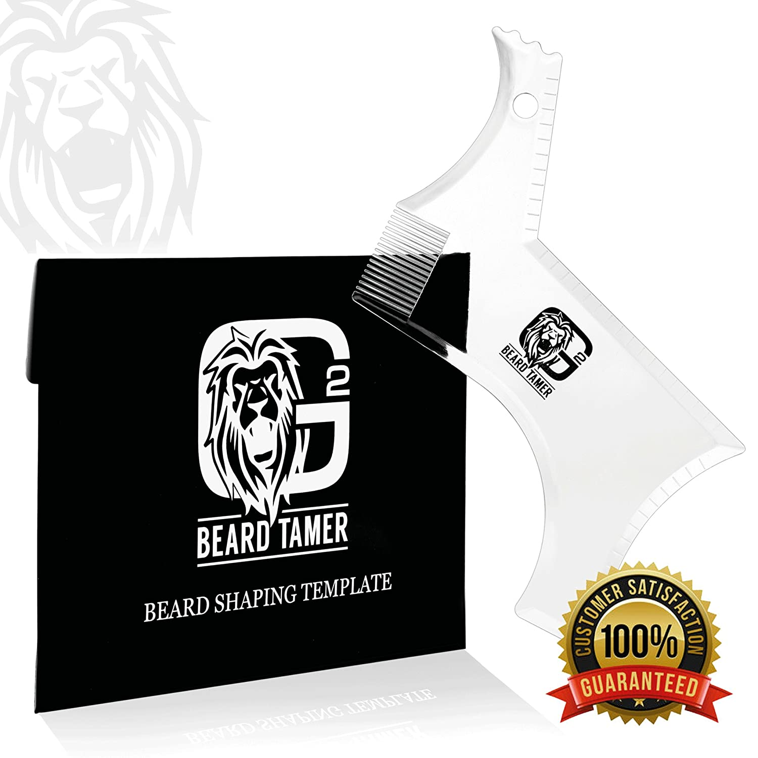 BEARD TAMER Beard Trimmer Shaping Tool Template. Innovative NEW DESIGN & TRANSPARENT beard shaper for easy use with clipper or razor. LIGHTWEIGHT & FLEXIBLE for easy handling. BONUS Beard Shaping User E-BOOK including over 15 BEARD STYLES TO CHOOS