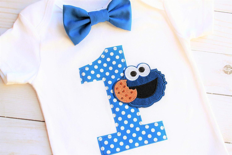 Superb Amazon Com First Birthday Boy Outfit First Birthday Cookie Personalised Birthday Cards Vishlily Jamesorg