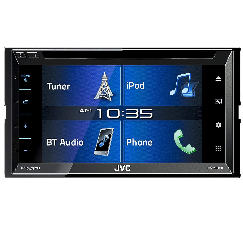 "Amazon.com: JVC KW-V330BT in-Dash DVD Receiver 6.8"" Double DIN Bluetooth  in-Dash DVD CD AM/FM Digital Media Car Stereo with SiriusXM Ready and  iDataLink ..."