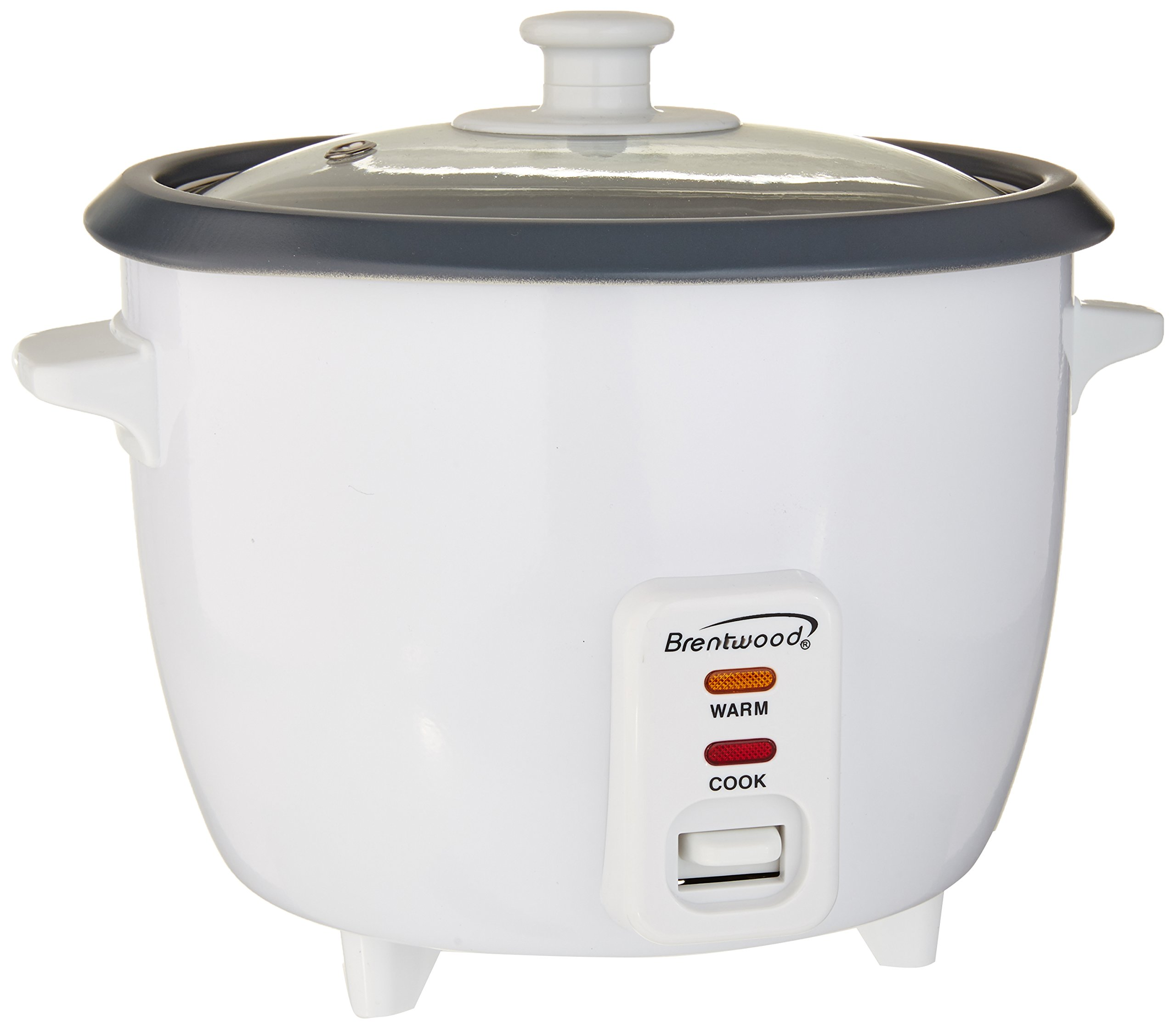 Brentwood Ts-600S. Cup Rice Cooker +Steamer Attachment. White Home. Garden