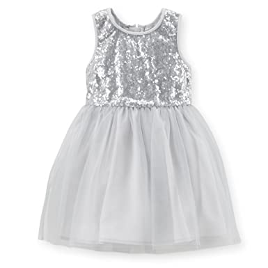 3da28e3fcb68 Image Unavailable. Image not available for. Color: Carter's Little Girls' Holiday  Sequin Tulle Dress ...