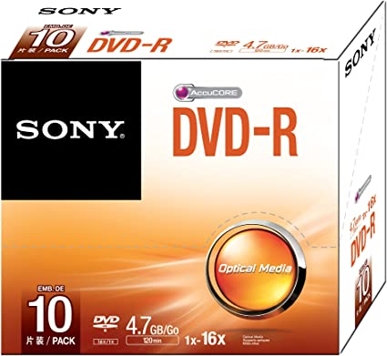 Sony 10DMR47SS - Pack de 10 DVD-R 16x: Amazon.es: Informática
