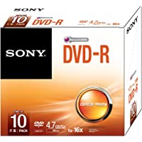 Sony 10DMR47SS 16x DVD-R 4.7 GB Recordable Media (Pack of 10)