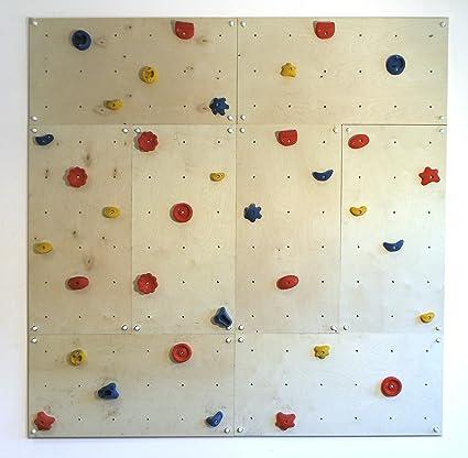 Gartenpirat pared escalada interiores 5,76 m² Set-IW8 - 8 Paneles 40 Presas