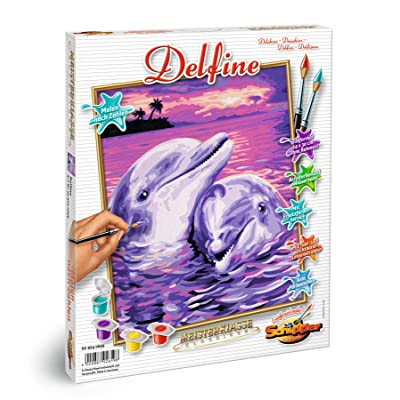 Schipper 609240659 Dolphins Paint by Numbers Board: Toys & Games
