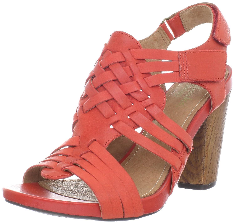 CLARKS Women's Rosa Central Sandal B008L5H680 9.5 B(M) US|Red