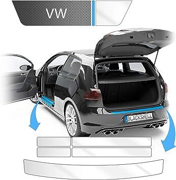 Blackshell Ladekantenschutz Und Einstiegsleisten Folie Inkl Premium Rakel Passend Für Golf 7 Variant Typ Au Bj 2012 2019 Transparent Passgenaue Lackschutzfolie Auto