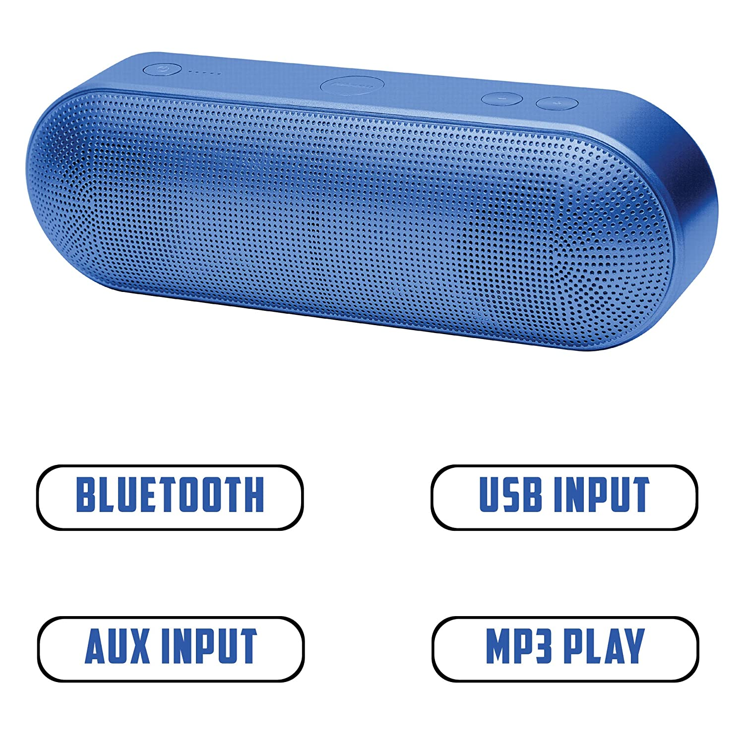 2BOOM Wireless Bluetooth Pill Speaker BT422, Portable, Built-in Microphone, Lightweight, Aux-in, FM Radio, USB Input, Loud Sound, Rich Bass - Electric ...