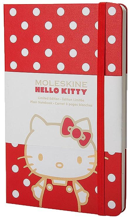 Moleskine Hello Kitty Limited Edition Plain portátil Red de Colored Hard Cover Size 5.5 x