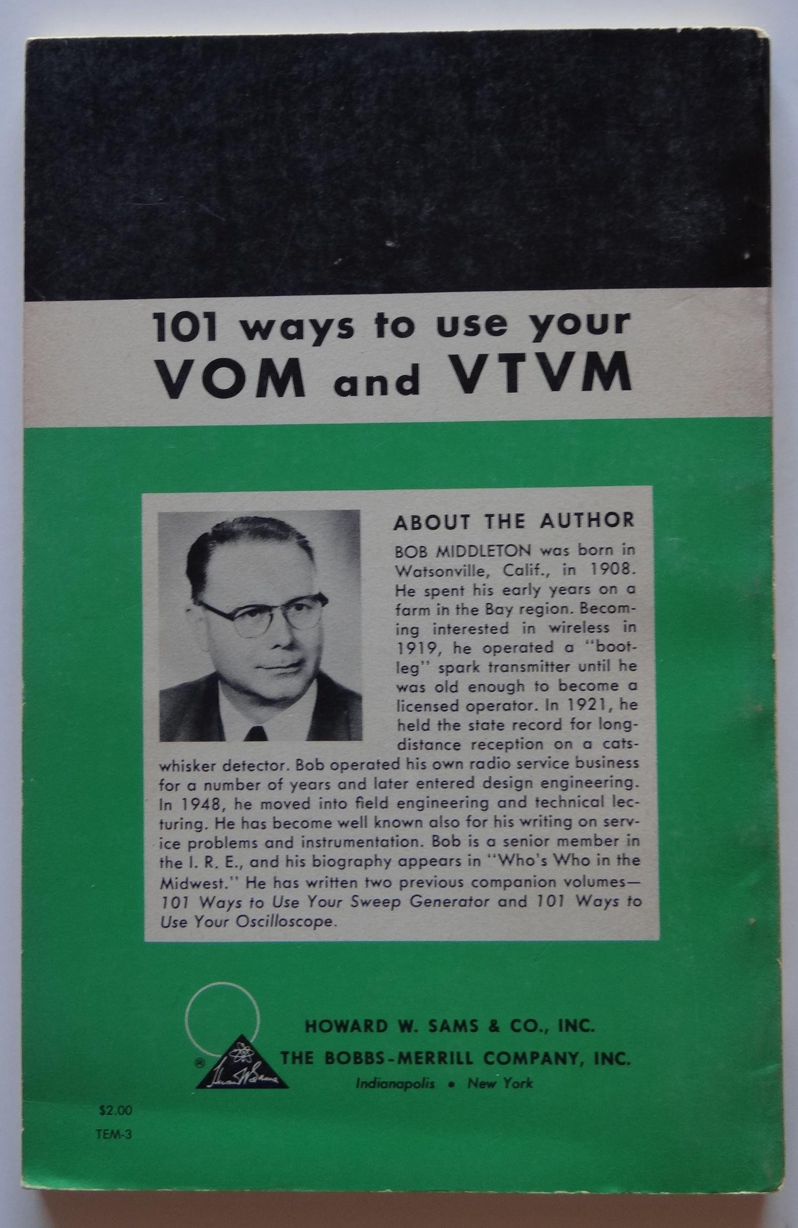 Best ways to use your VOM and VTVM.: Fred, Allied Radio Corporation.  Shunaman: Amazon.com: Books