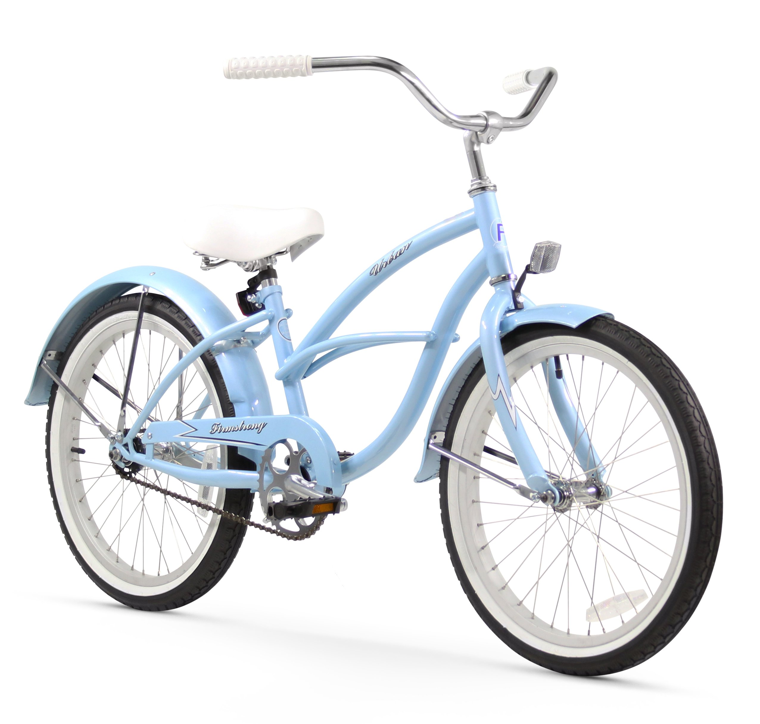 Firmstrong Urban Girl Single Speed Beach Cruiser Bicycle, 20-Inch, Baby Blue