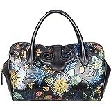 PIJUSHI Designer Floral Leather Top Handle Handbag Tote Satchel Cross Body Bag 22119