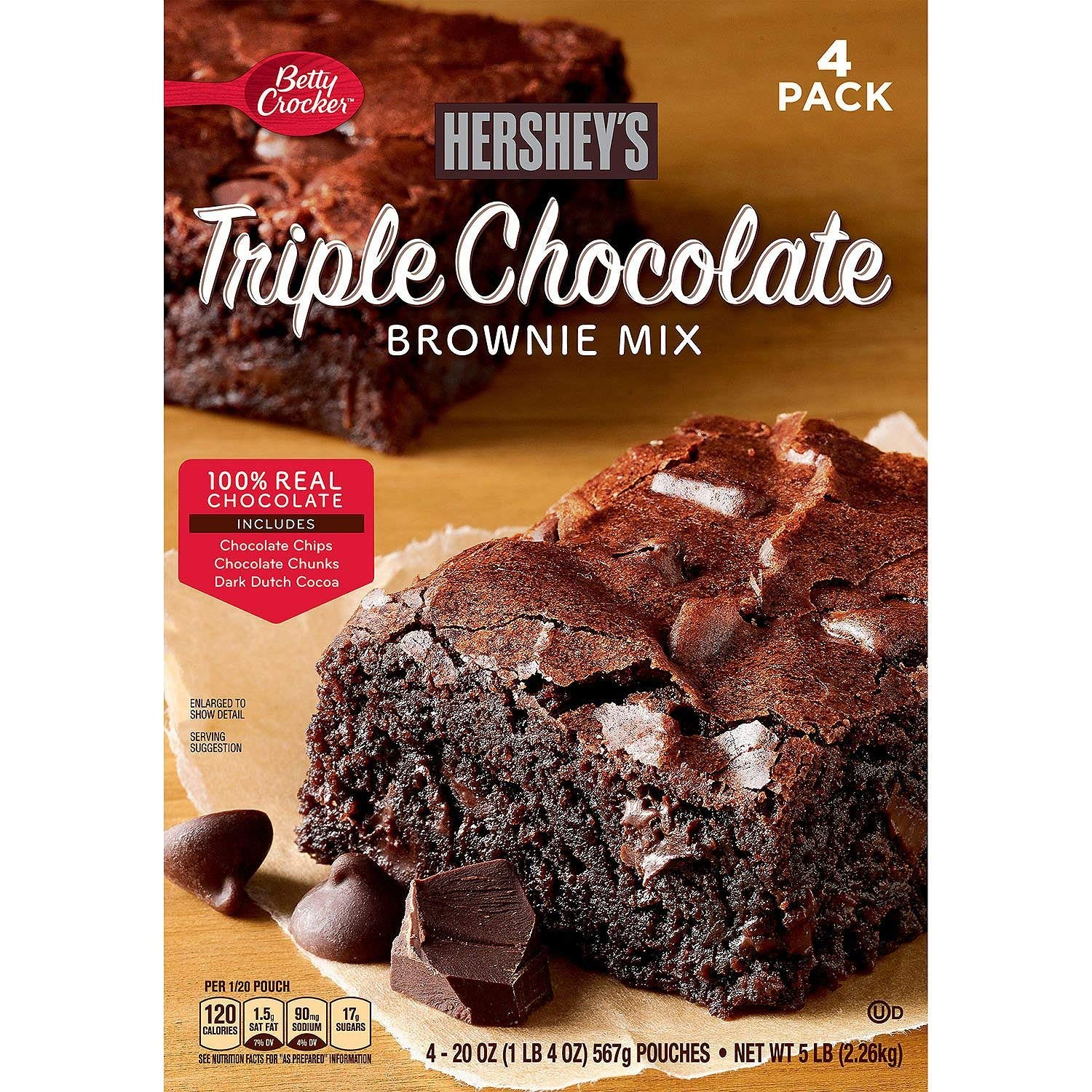 Betty Crocker Hershey's Triple Chocolate Brownie Mix