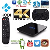 Tronic MXQ Smart TV box Android 6.0 HDMI Media Streaming Player Quad Core 4K*2K,Amlogic S905X {Free Mini Keyboard} better than Tonbux